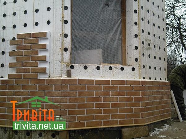 Фото 4. Оздоблення фасаду клінкерною плиткою