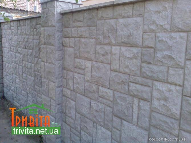 Фото 1. Фасадна плитка колотий камінь