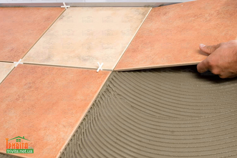 Фото 2. Кладка керамогранитной плитки