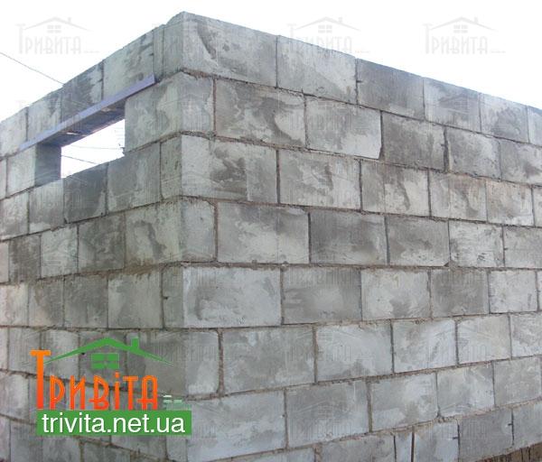 Строительство стен из шлакоблока