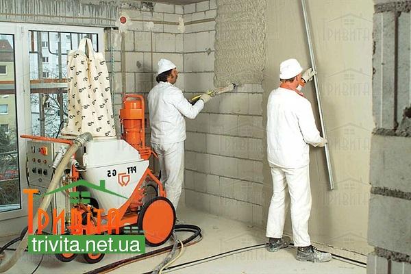 Фото 3. Фарбування газобетонних стін
