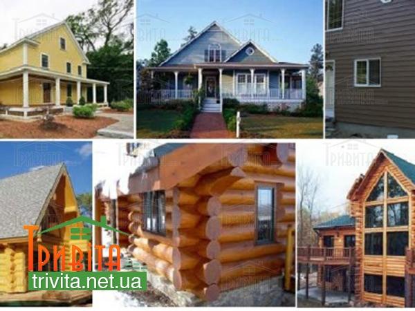 Фото 2. Типи дерев'яних будинків
