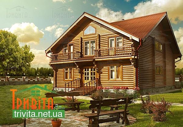 Фото 8. Покрівля та фундамент для дерев'яного будинку