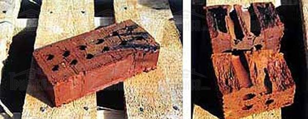 Фото 2. Перепалена цегла