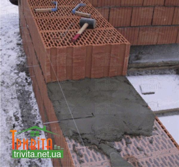 Фото 3. Теплий розчин для кладки керамічних блоків