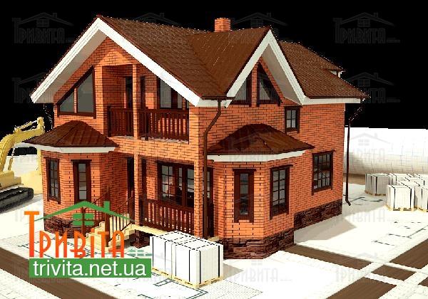 Фото 9. Будинок з цегли, черепашнику, газобетону або піноблоку