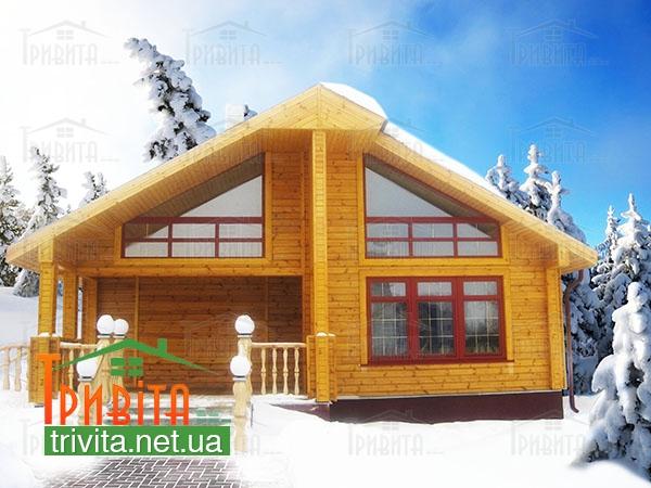 Фото 4. Преимущества строительства дома из дерева зимой