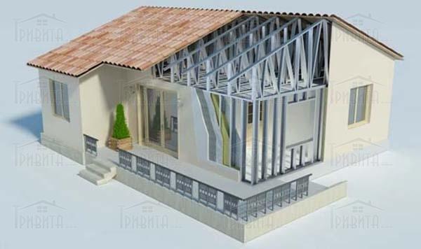Фото 4. Технологія будівництва будівель з металоконструкцій