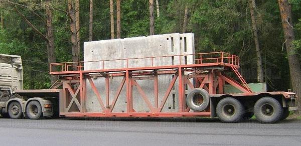 Фото 1. Как правильно транспортировать крупногабаритные конструкции