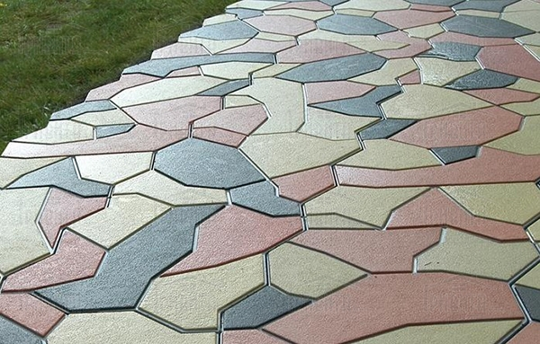 Фото 1. Вибролитая тротуарная плитка
