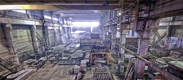 Фото 1. Процес виготовлення залізобетонних виробів