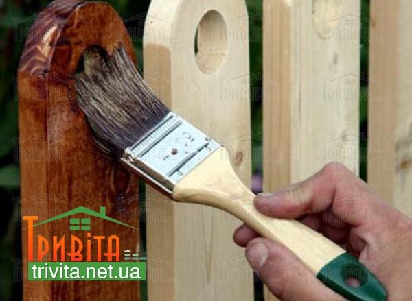 Фото 1. Защита древесины от влаги и гниения