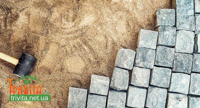Фото 2. Создание песчано-щебневой подушки
