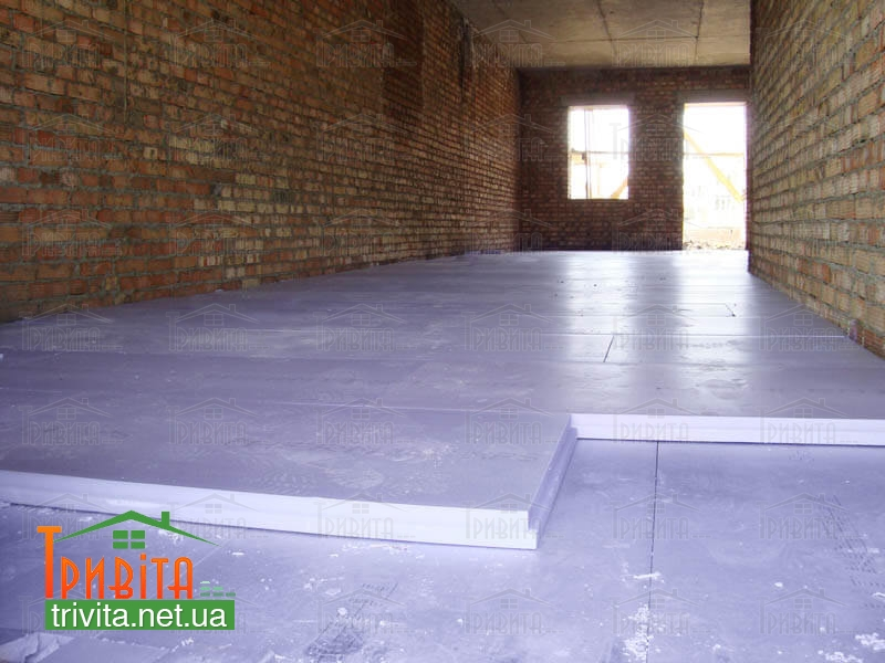 Фото 2. Теплоізоляція підлогових покриттів