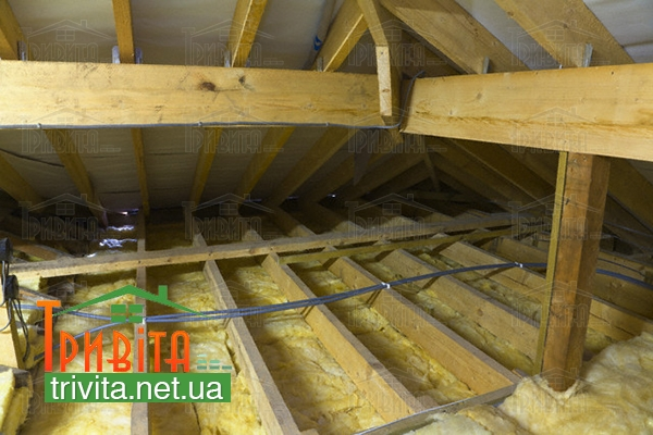Фото 3. Утепляем потолок бани