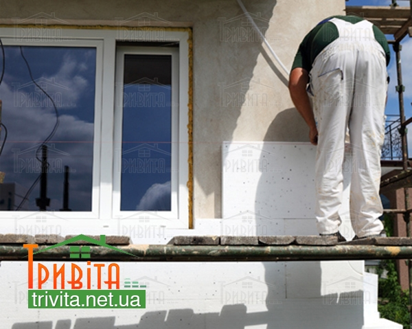 Фото 6. Утепление фасада дома пенопластом