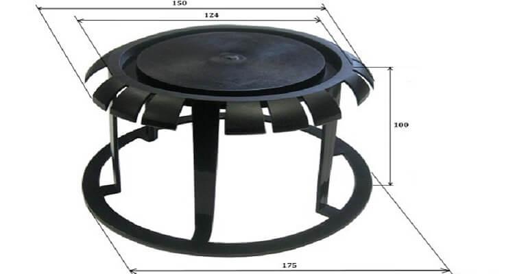 Пластиковая заглушка для плит