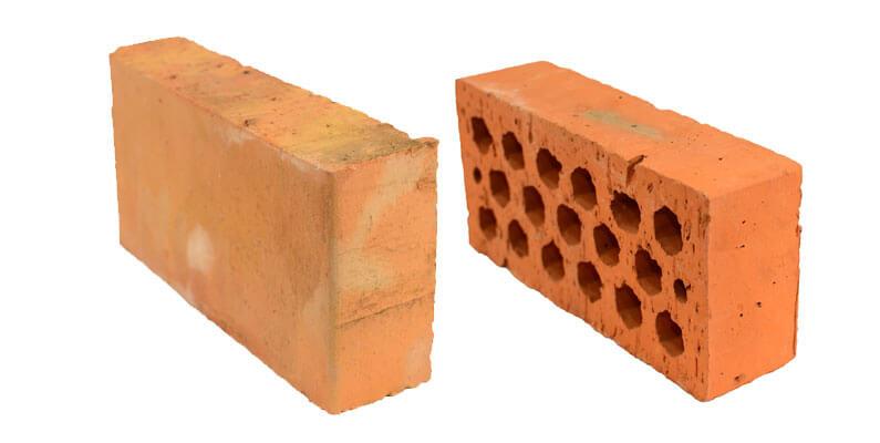 Переваги повнотілої і пустотілої цегли М-200