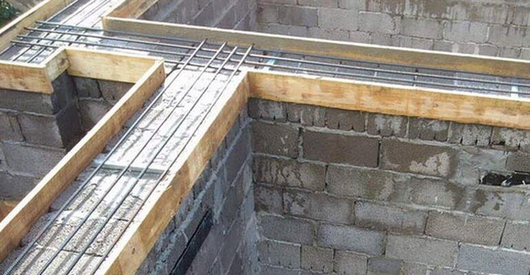 Армопояс для стін з шлакобетону