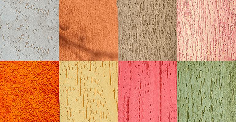 Фото 1. Виды декоративной штукатурки для стен