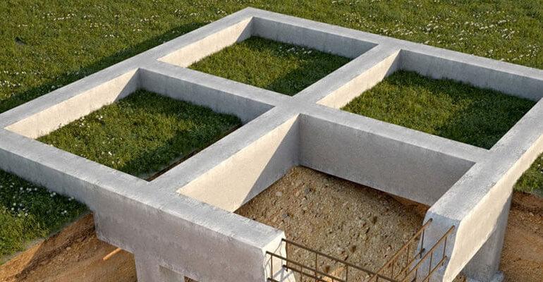 Фото 3. Строительство фундамента
