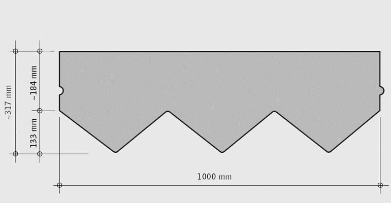 Размеры гонтов