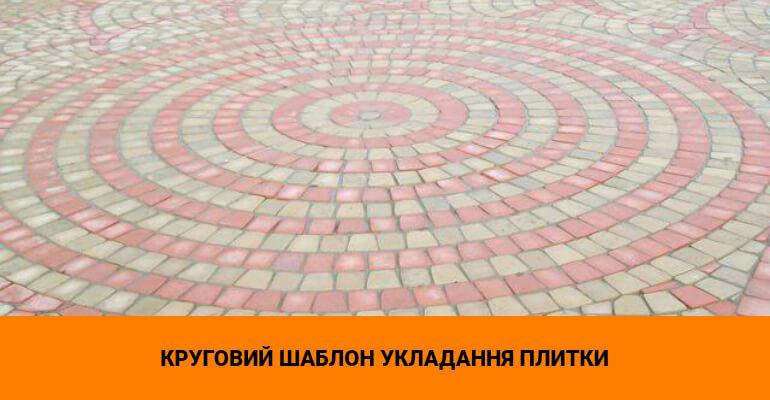 Круговий шаблон укладання плитки
