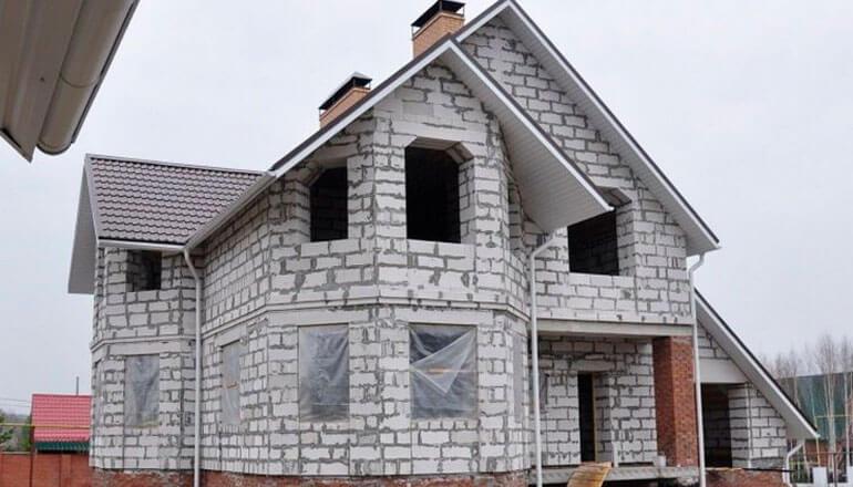 Двухэтажный дом из газоблок