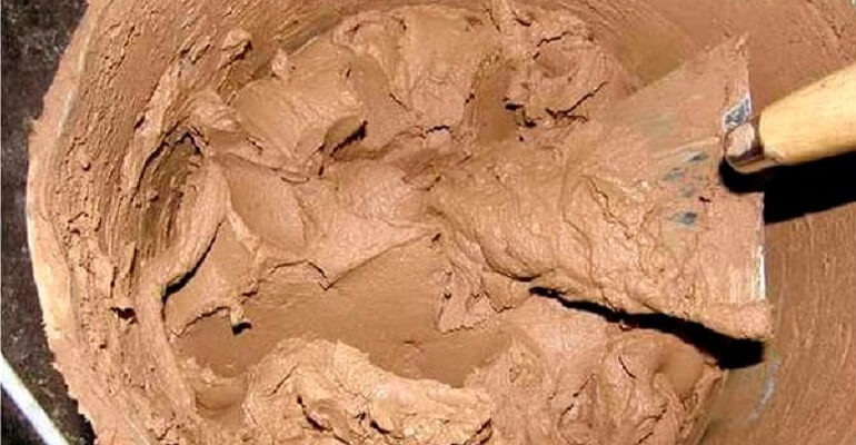 Раствор из шамотной глины