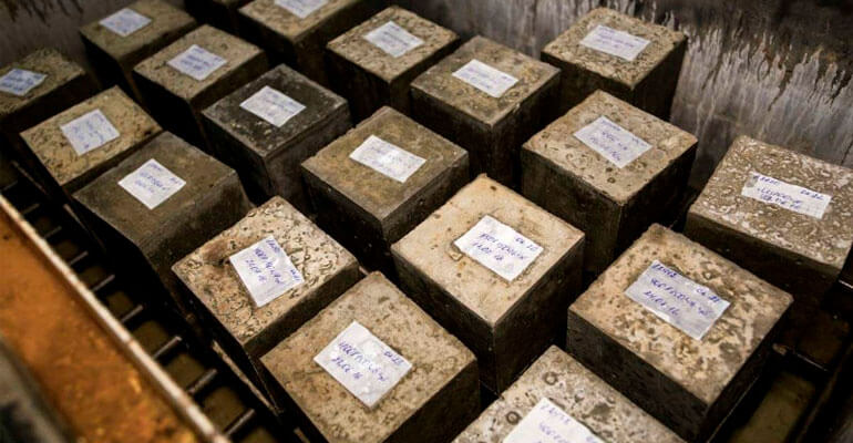 Зразки бетону для визначення марки