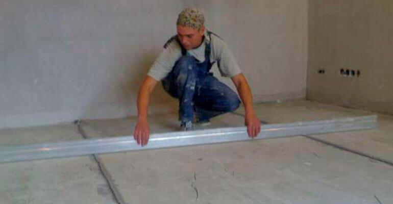 Фото 2. Подготовка бетонного пола