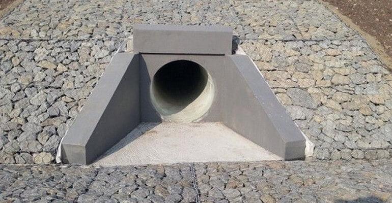Водоотводные трубы под дорогой