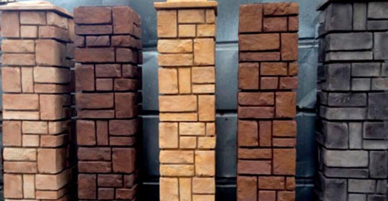 Декоративные заборные блоки