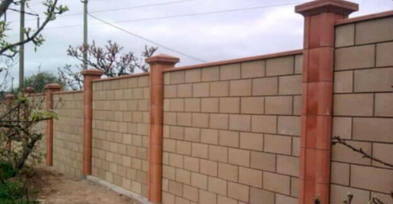 Декоративні парканні блоки