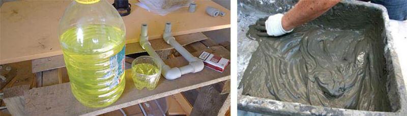 сколько жидкого мыла добавлять в бетон
