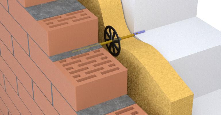 Гнучкі зв'язки для кріплення цегли до газоблоків
