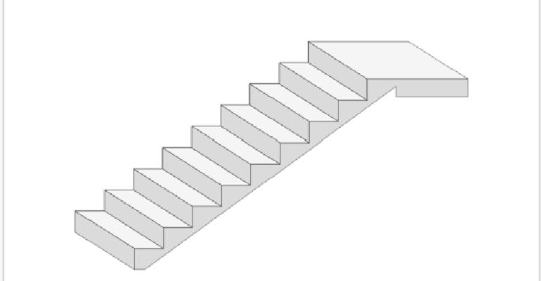 Зовнішній вигляд сходів за заданими параметрами