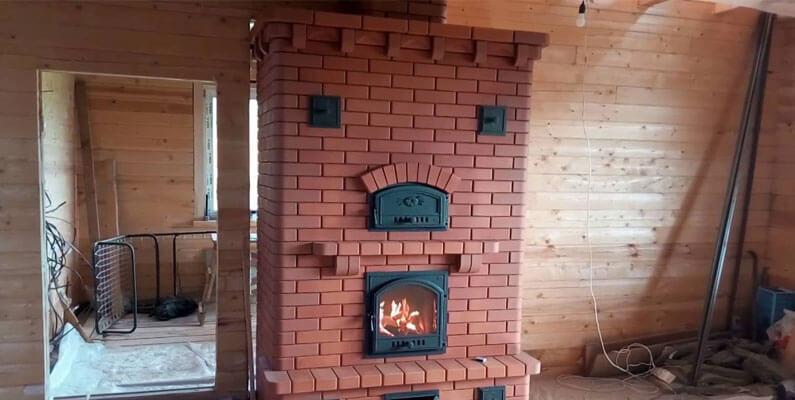 Печь для дома из кирпича