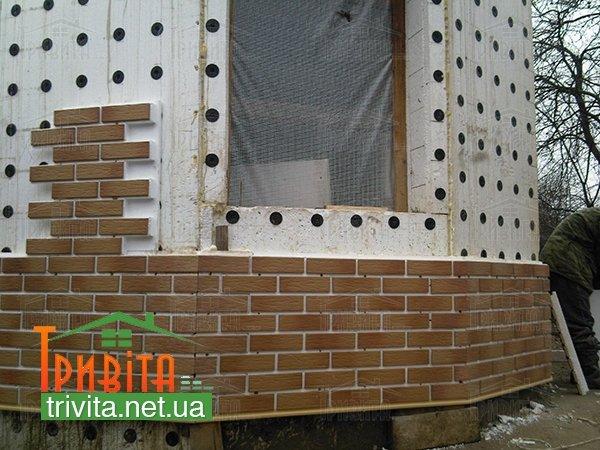 Фото 4. Отделка фасада клинкерной плиткой