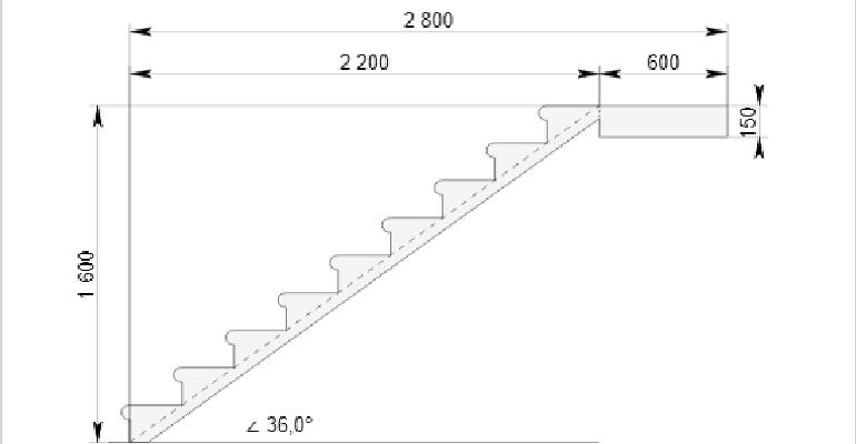 Креслення сходів за заданими параметрами